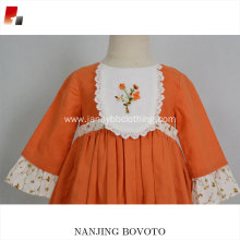 new design embroidery dress baby girl floral dresses